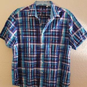 Robert Graham Plaid Short-sleeve Shirt 3XL VGC